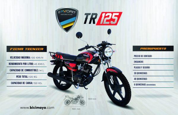 TR 125 NEGRO-ROJO