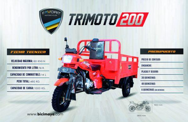 TRIMOTO 200 ROJO